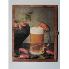 "Ключница ""Раки и пиво"""
