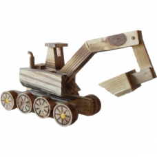 Сувенирный деревянный трактор