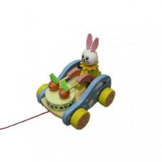 """Детская игрушка каталка """"Заяц с барабаном"""""""