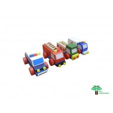 Набор машинок экстренных служб (конструктор) (4шт)